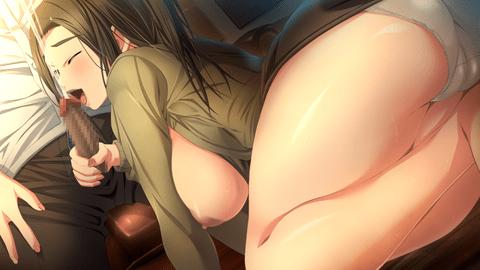 名家を訪ねる巨乳美人が少年とSEX-011